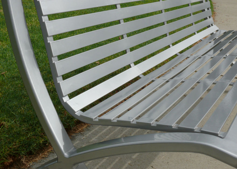 with durable metal seating