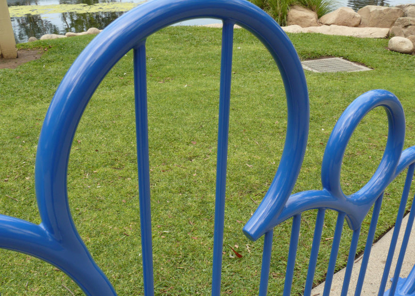 in welded steel tube with durable powder coat finish