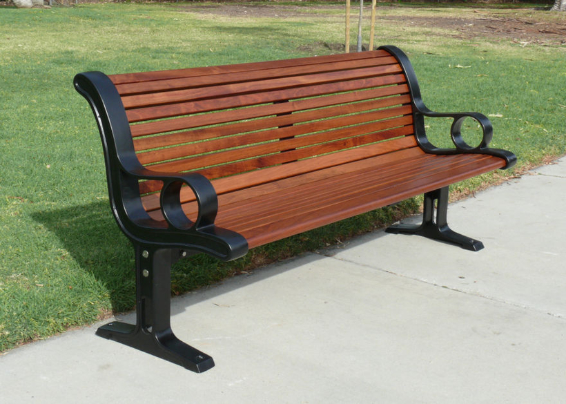 with robust cast supports and durable hardwood seating