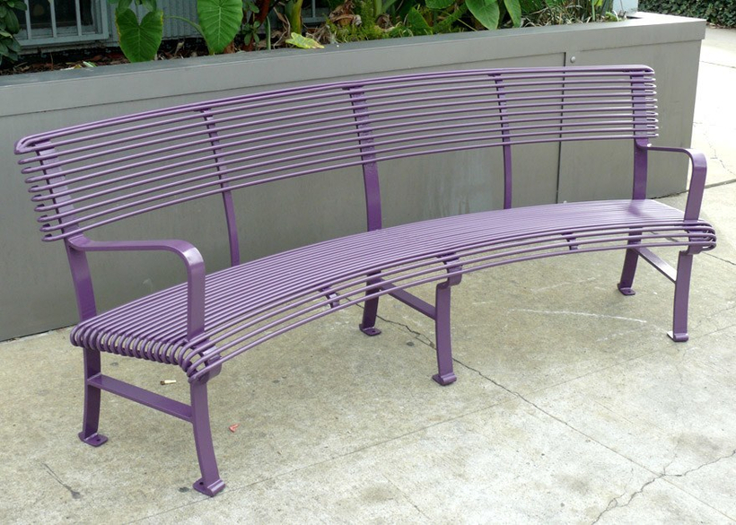 with radius and steel rod seating