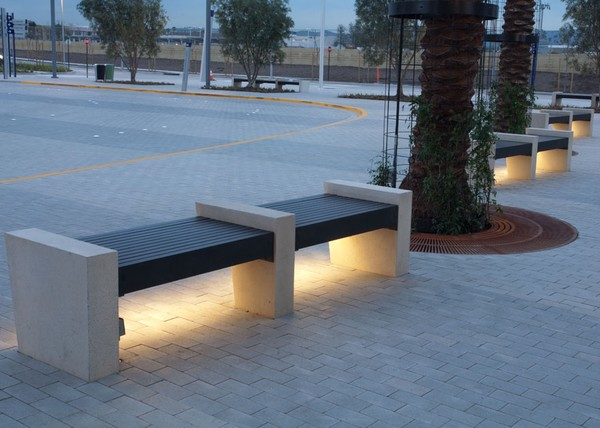 Modern Illuminated Benches