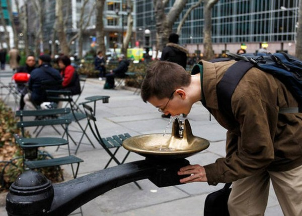New York Drinking Fountain - One Bowl