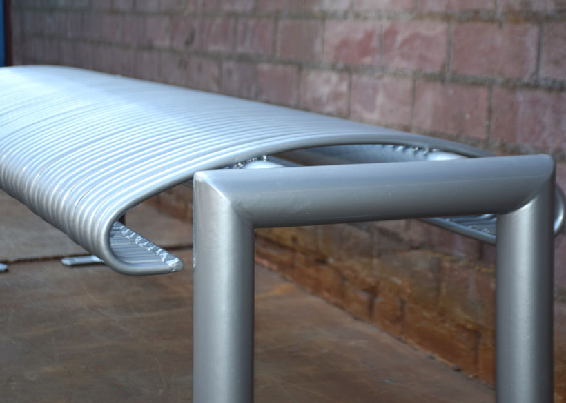 with vandal resistant steel rod seating