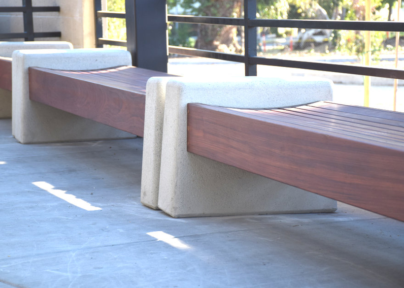 with rich Jatoba hardwood seating