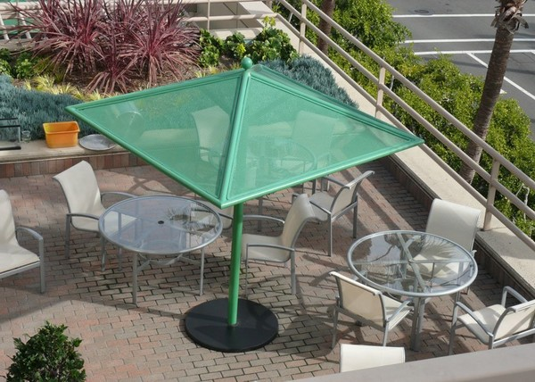 Perforated Aluminum Umbrella