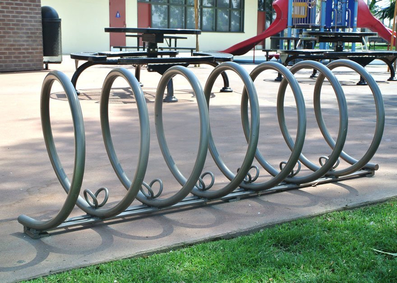 in steel tube with powder coat finish