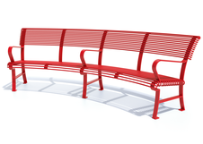 French Park Bench - Curved